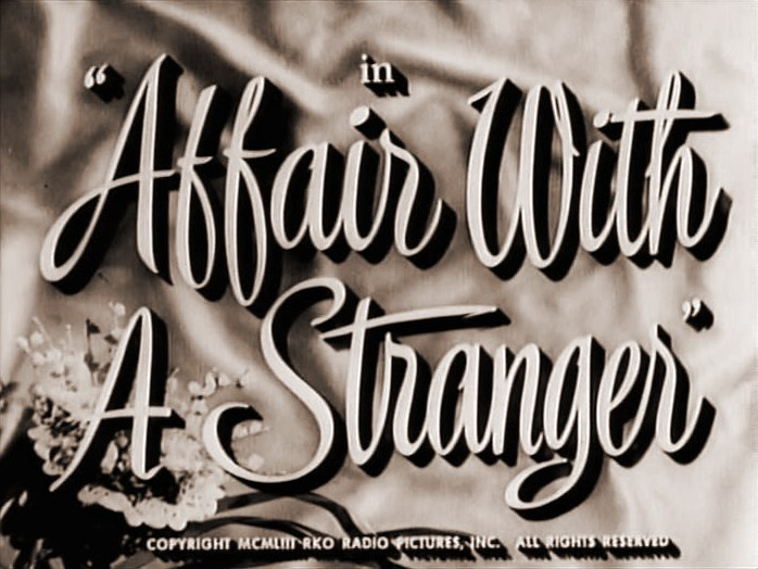 Main title from Affair with a Stranger (1953)