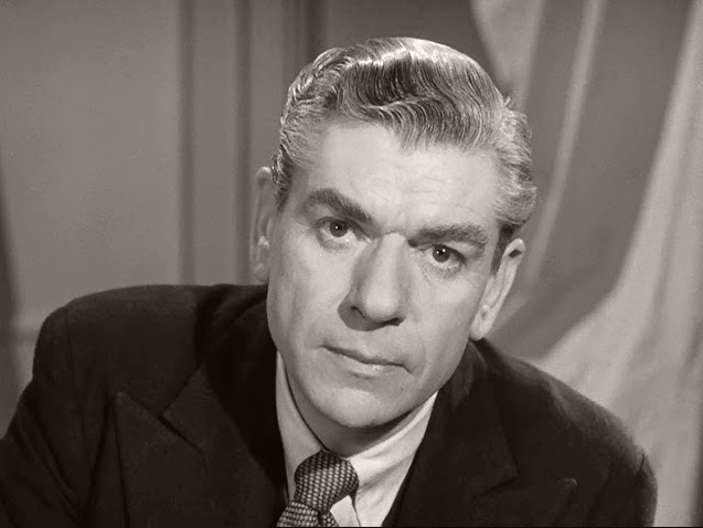 Superintendent Folland (André Morell) in a scene from the Boulting brothers' 1950 film, Seven Days to Noon
