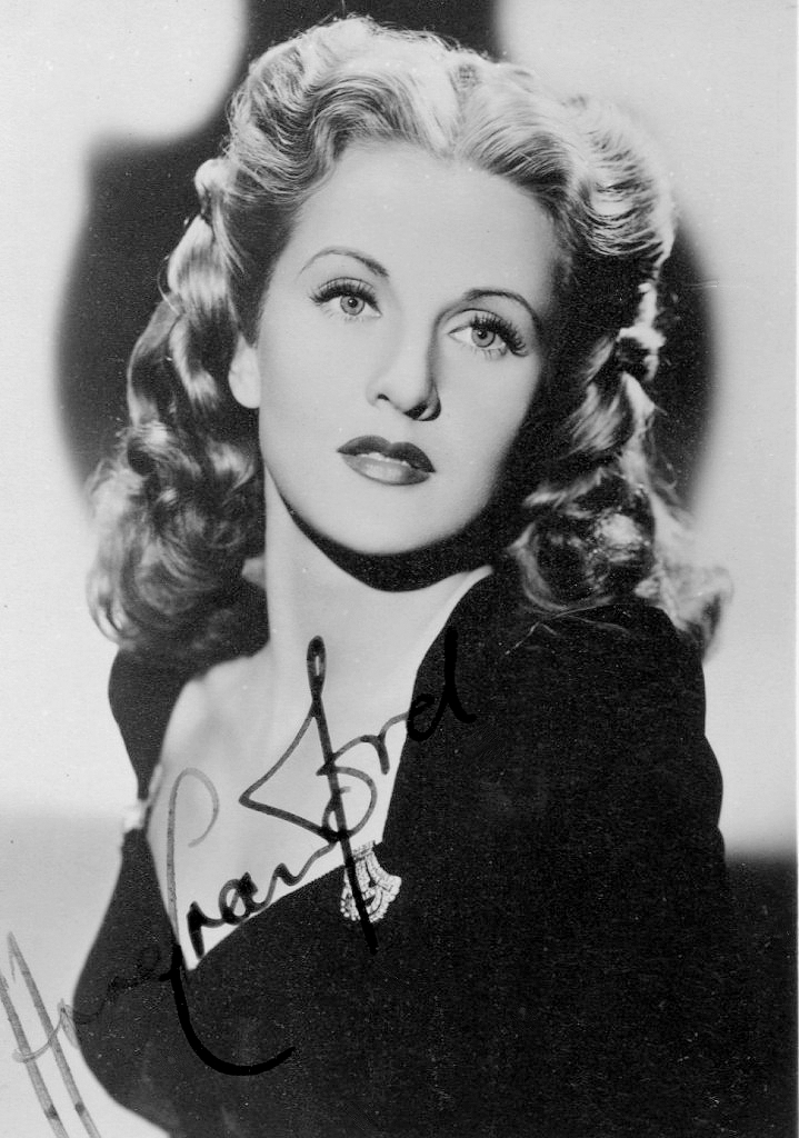 Autographed photograph of British actress, Anne Crawford (1)