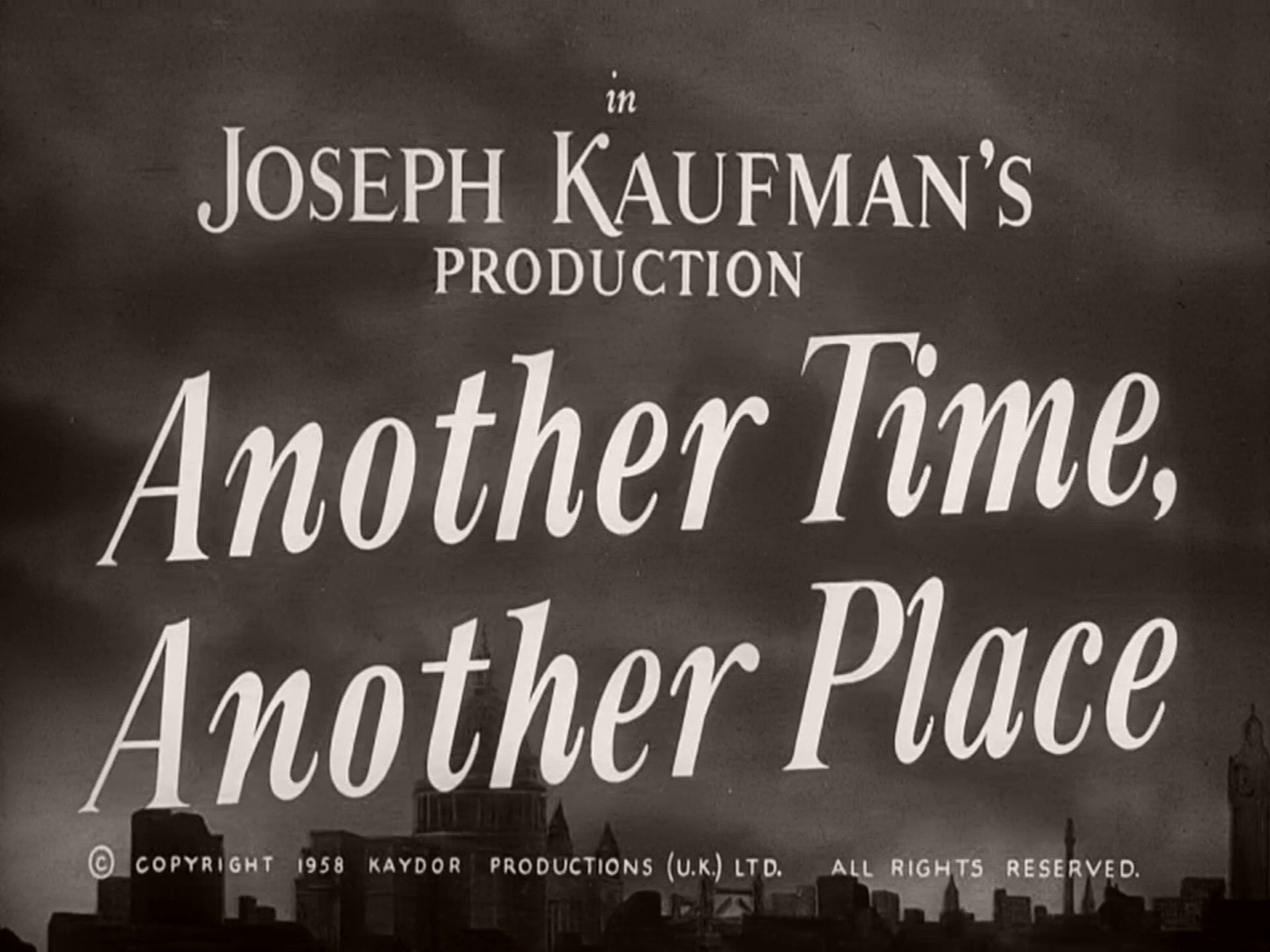 Opening credits from Another Time, Another Place (1958) (7)