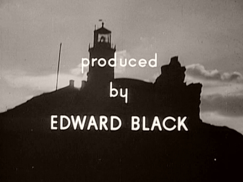 Main title from Back-Room Boy (1942) (9).  Produced by Edward Black