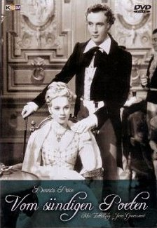 Joan Greenwood (as Lady Caroline Lamb) and Dennis Price (as Lord Byron) in a German DVD cover of The Bad Lord Byron (1948) (2)