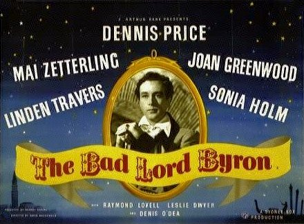 Dennis Price (as Lord Byron) in a poster for The Bad Lord Byron (1948) (2)