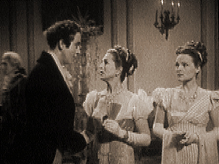 Dennis Price (as Lord Byron), Mai Zetterling (as Teresa Guiccioli) and Linden Travers (as Augusta Leigh) in a screenshot from The Bad Lord Byron (1948) (5)