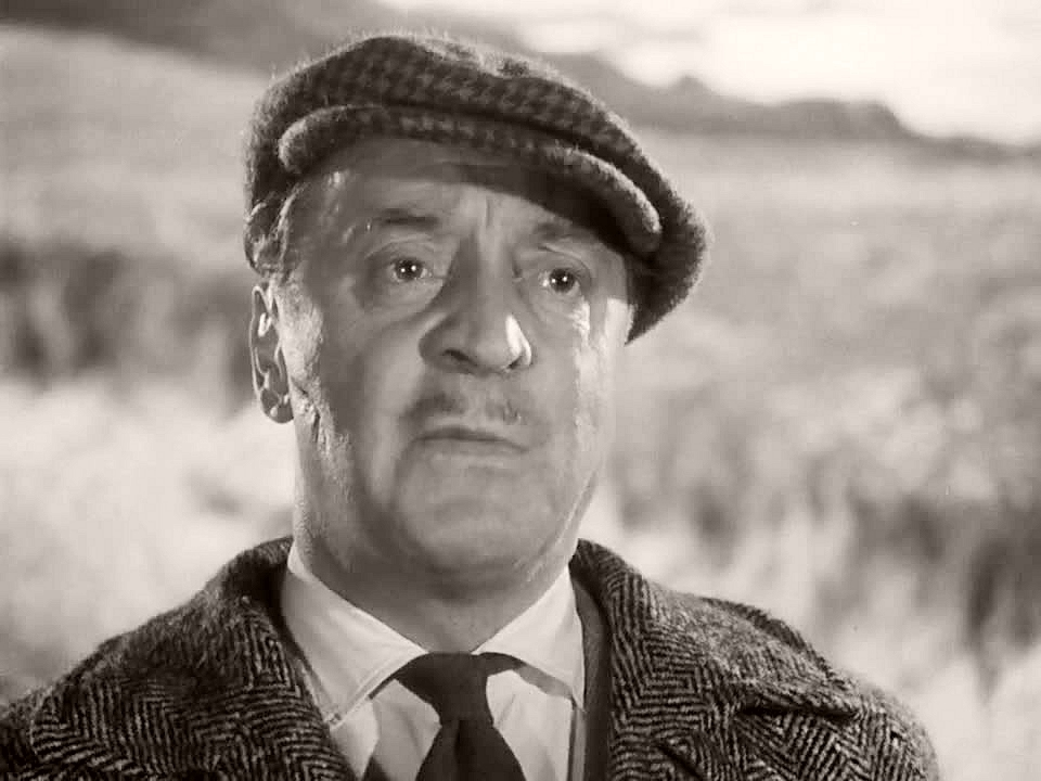 British actor, Basil Radford, as Captain Paul Waggett in Whisky Galore! (1949)