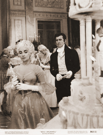 Elizabeth Taylor (as Lady Patricia Belham) and Stewart Granger (as George Bryan 'Beau' Brummell) in a photograph from Beau Brummell (1954) (2)