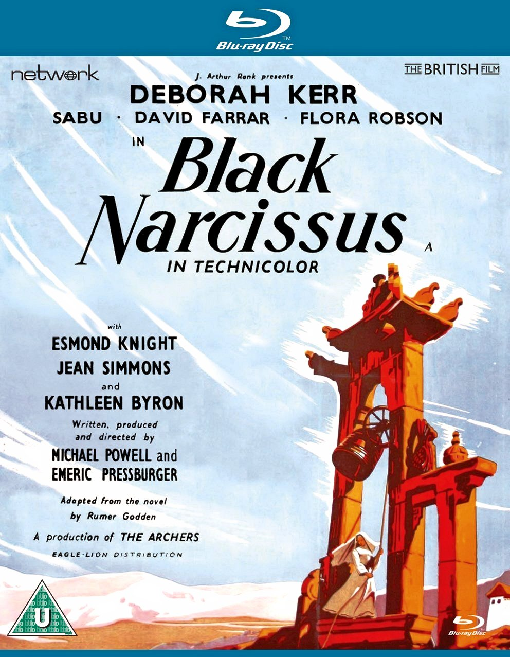Black Narcissus Blu-ray from Network and The British Film.  Features Deborah Kerr, Sabu, David Farrar and Flora Robson.