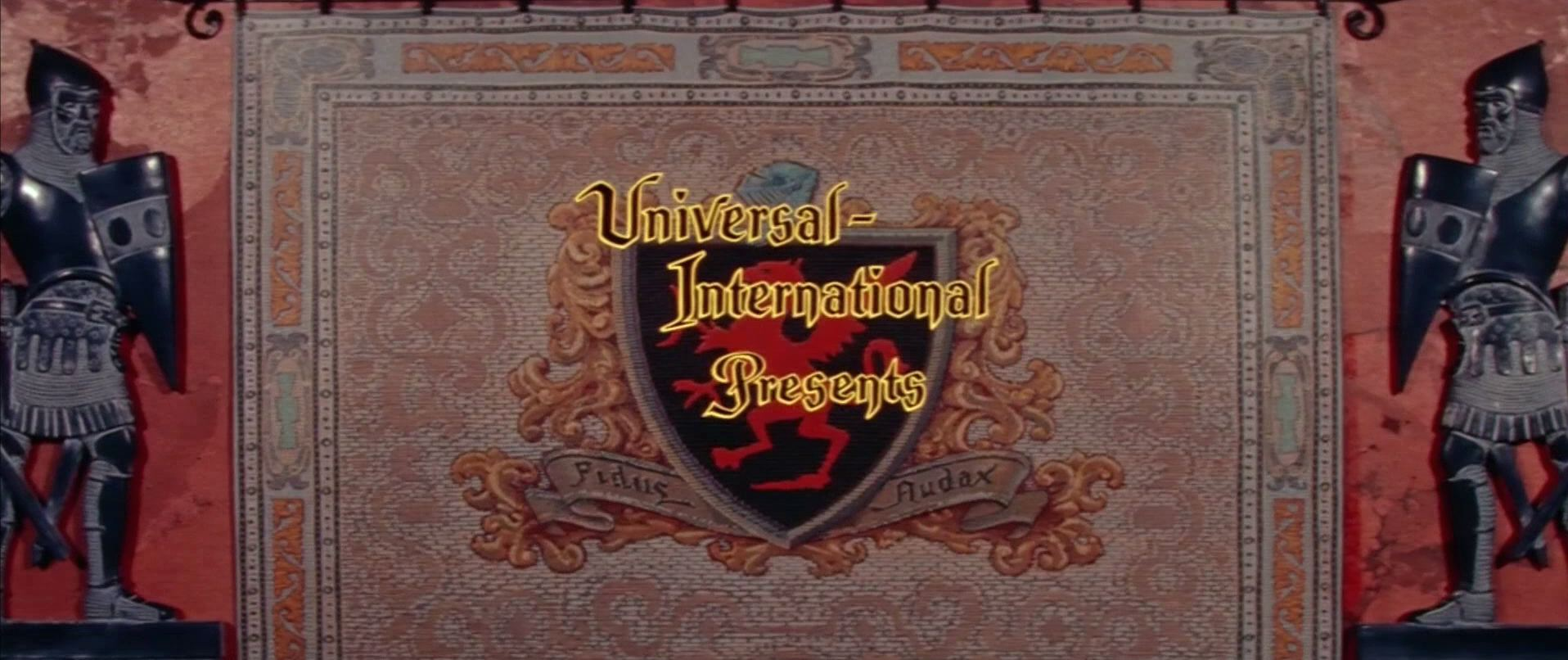 Main title from The Black Shield of Falworth (1954) (3). Universal International presents