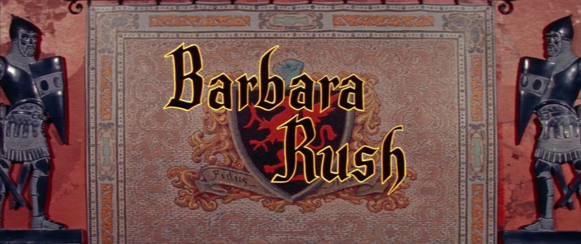Main title from The Black Shield of Falworth (1954) (8). Barbara Rush