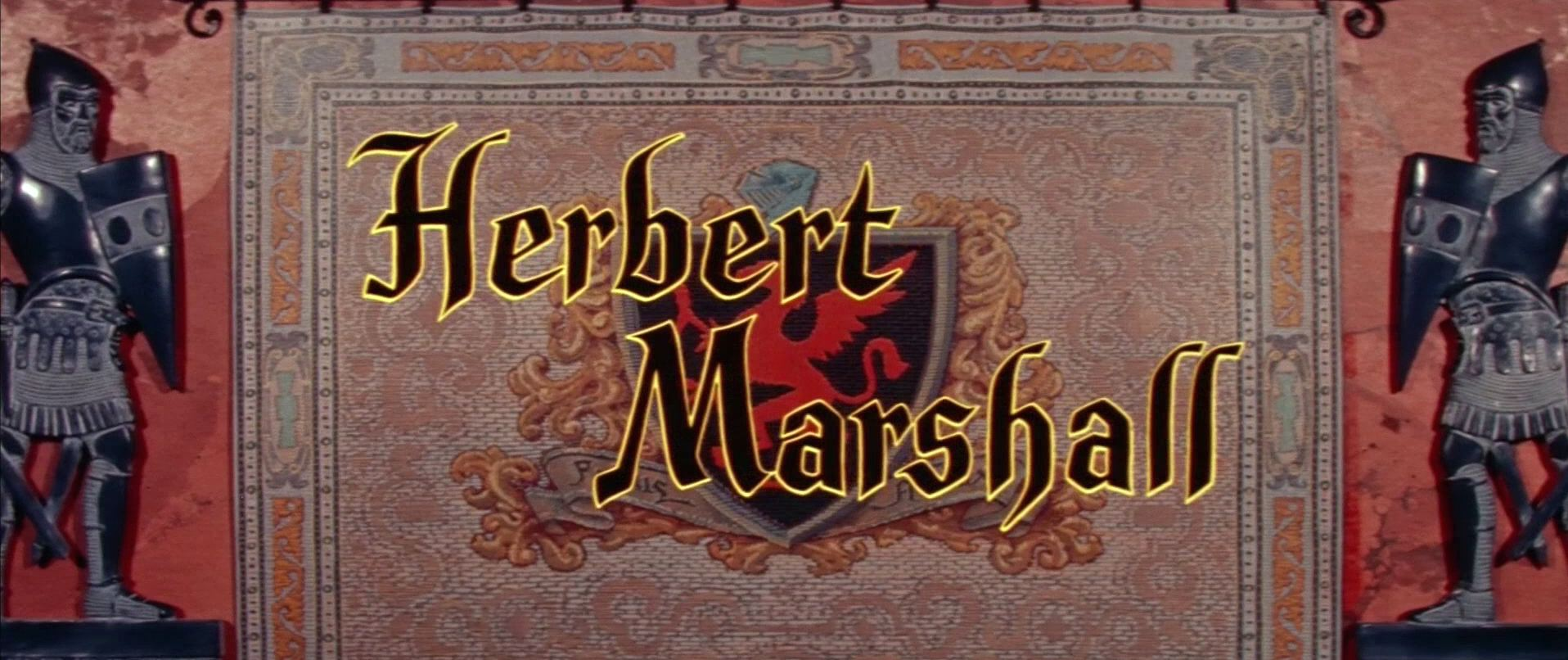 Main title from The Black Shield of Falworth (1954) (9). Herbert Marshall