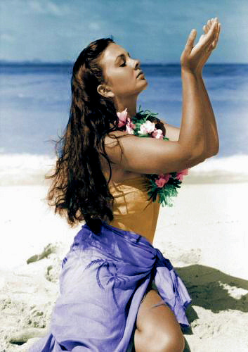 Jean Simmons (as Emmeline Foster) in a photograph from The Blue Lagoon (1949) (1)