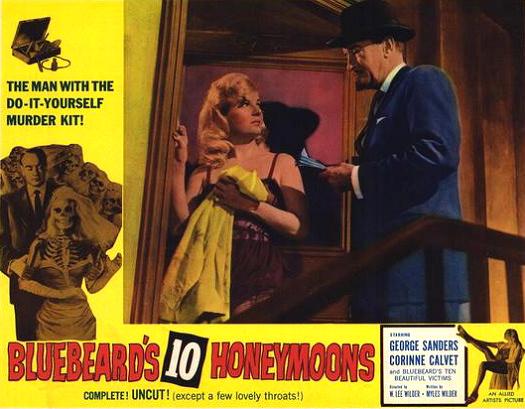 Lobby card from Bluebeard's Ten Honeymoons (1960) (1)
