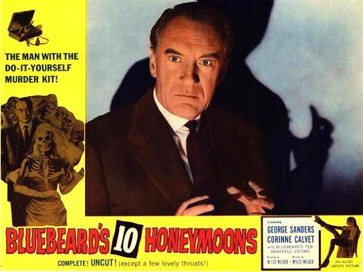 Lobby card from Bluebeard's Ten Honeymoons (1960) (3)