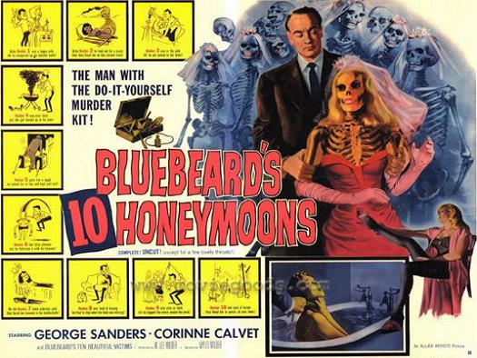 Lobby card from Bluebeard's Ten Honeymoons (1960) (5)