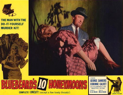 Lobby card from Bluebeard's Ten Honeymoons (1960) (6)