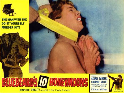 Lobby card from Bluebeard's Ten Honeymoons (1960) (7)