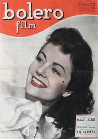 Bolero Film magazine with Margaret Lockwood.  (Spanish)