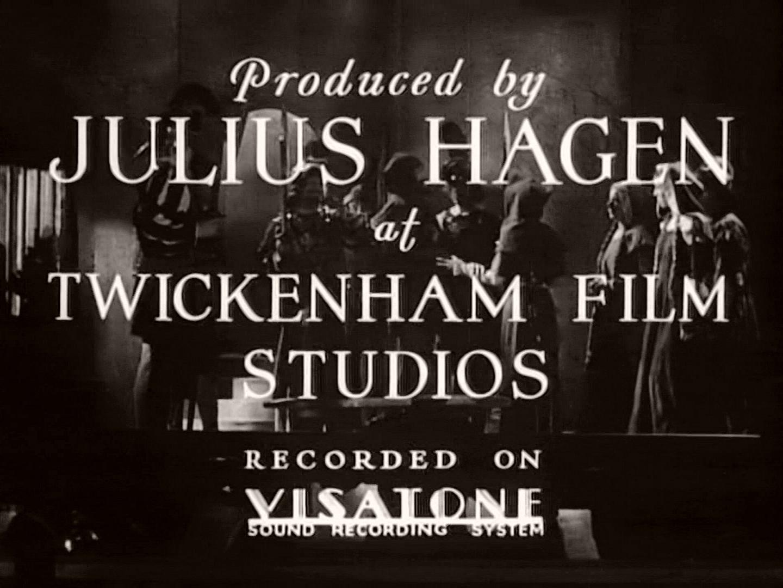 Main title from The Broken Melody (1934) (2). Produced by Julius Hagen at Twickenham Film Studios