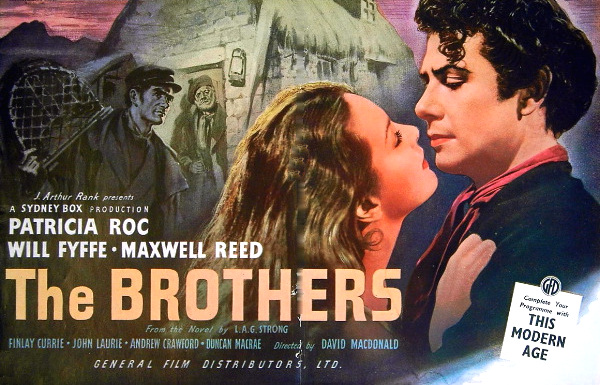 Patricia Roc (as Mary) and Maxwell Reed (as Fergus Macrae) in a poster for The Brothers (1947) (2)