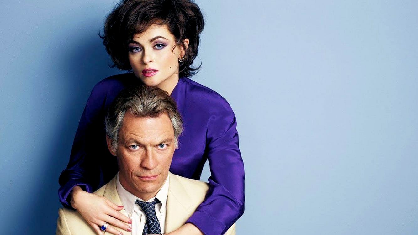 Promotional photograph from Burton and Taylor (2013), featuring Dominic West (as Richard Burton) and Helena Bonham Carter (as Elizabeth Taylor) (1)