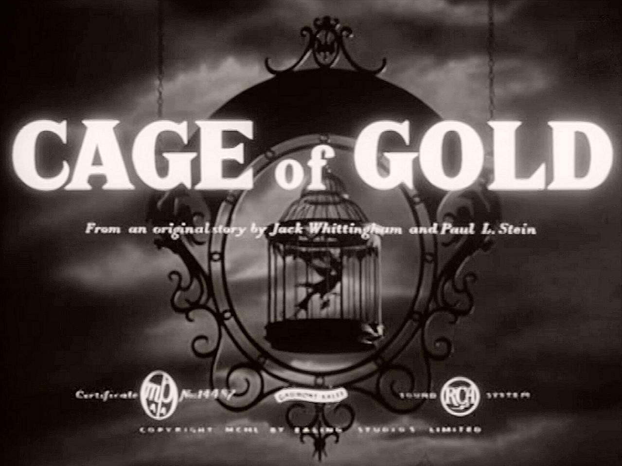 Main title from Cage of Gold (1950)