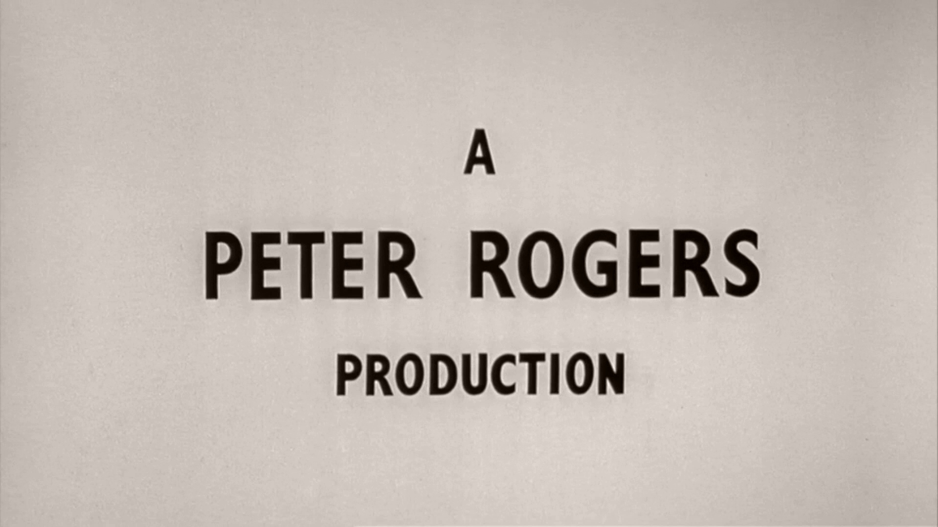 Main title from Carry On Nurse (1959) (3). A Peter Rogers production