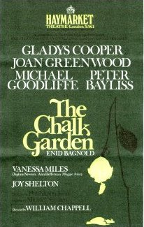 Programme from The Chalk Garden (1971) at the Haymarket Theatre, London (1)