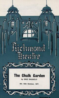 Programme from The Chalk Garden (1971) at the Richmond Theatre, London (1)