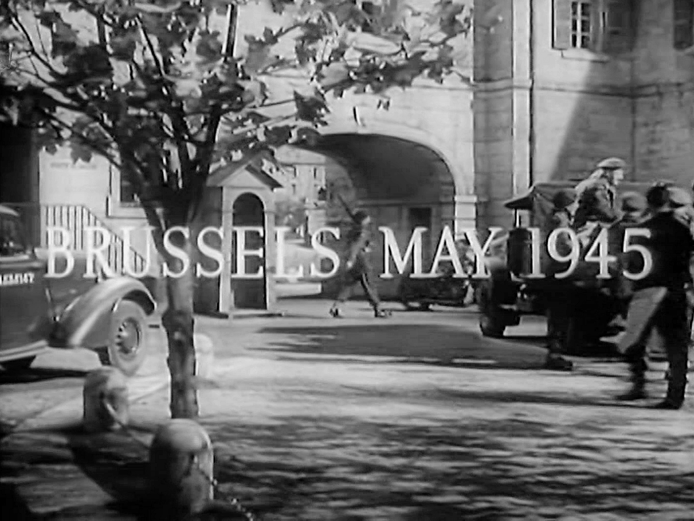 Main title from The Chiltern Hundreds (1949) (12). Brussels, May 1945
