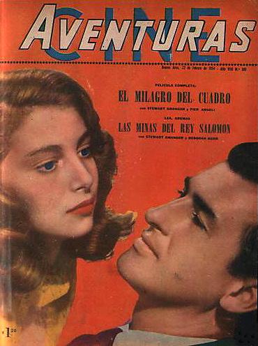 Cine Aventuras magazine with Pier Angeli and Stewart Granger in The Light Touch.  (Argentine)