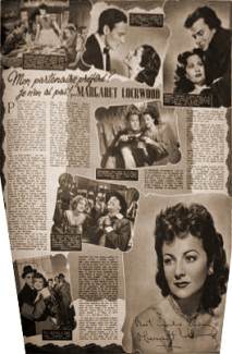 Cine Revue magazine featuring The Wicked Lady.  1949.  (French)