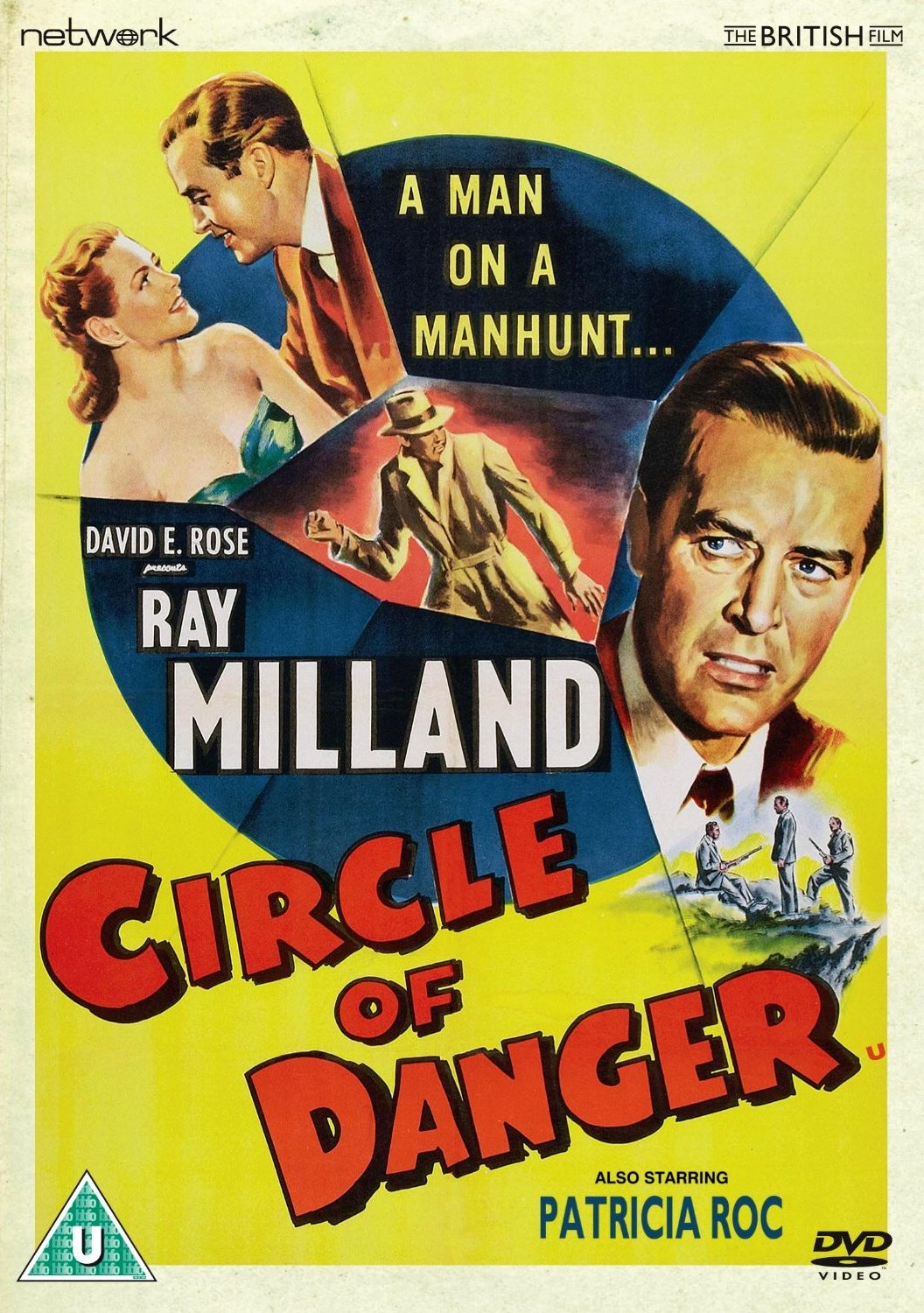 Circle of Danger DVD from Network and The British Film.  Features Ray Milland, Patricia Roc and David E. Rose.