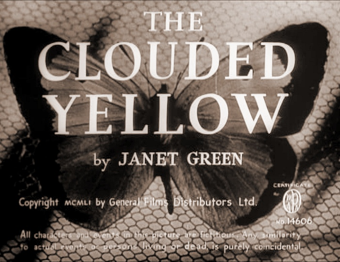 Main title from The Clouded Yellow (1950)