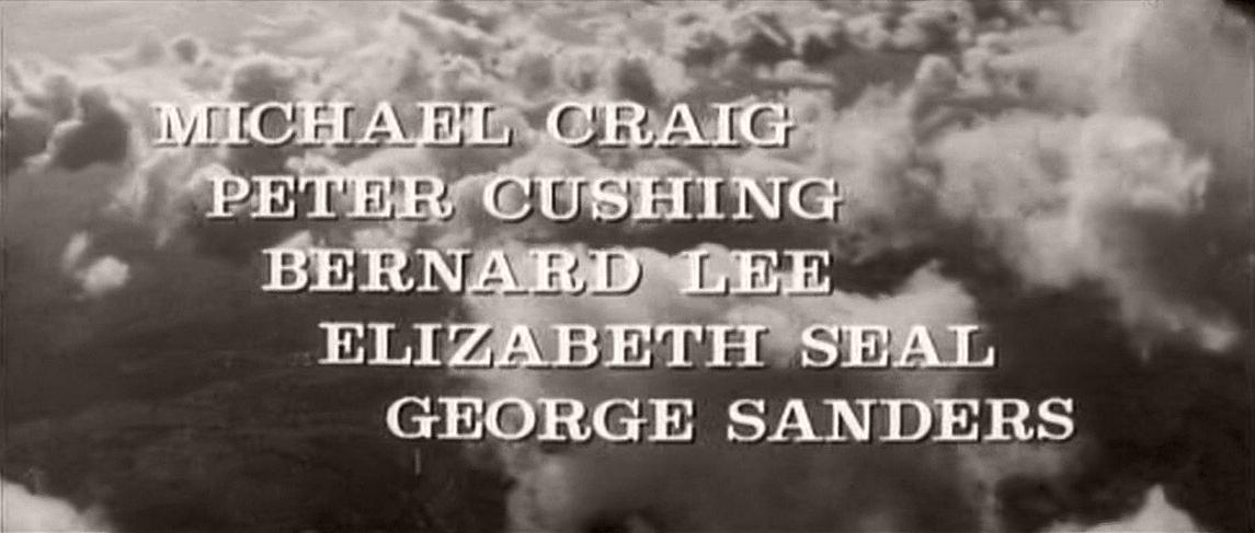 Main title from Cone of Silence (1960) (2).  Michael Craig Peter Cushing, Bernard Lee, Elizabeth Seal, George Sanders