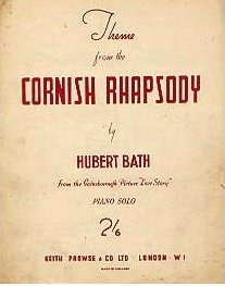 Sheet music from the 1944 film, Love Story (Cornish Rhapsody), by Hubert Bath