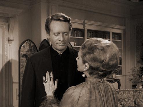 Patrick McGoohan and Joan Greenwood (as Nandina) in a photograph from Danger Man (1960-62) (10)