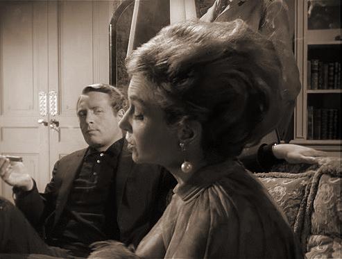 Patrick McGoohan and Joan Greenwood (as Nandina) in a photograph from Danger Man (1960-62) (3)