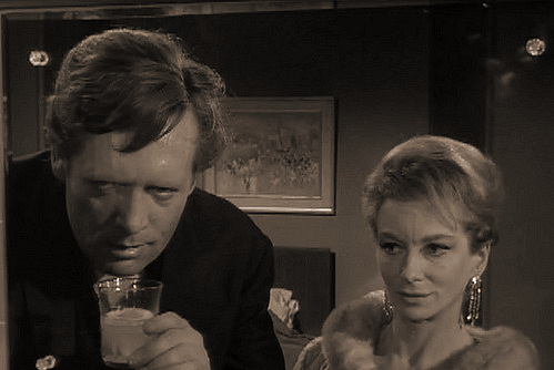 Patrick McGoohan and Joan Greenwood (as Nandina) in a photograph from Danger Man (1960-62) (5)