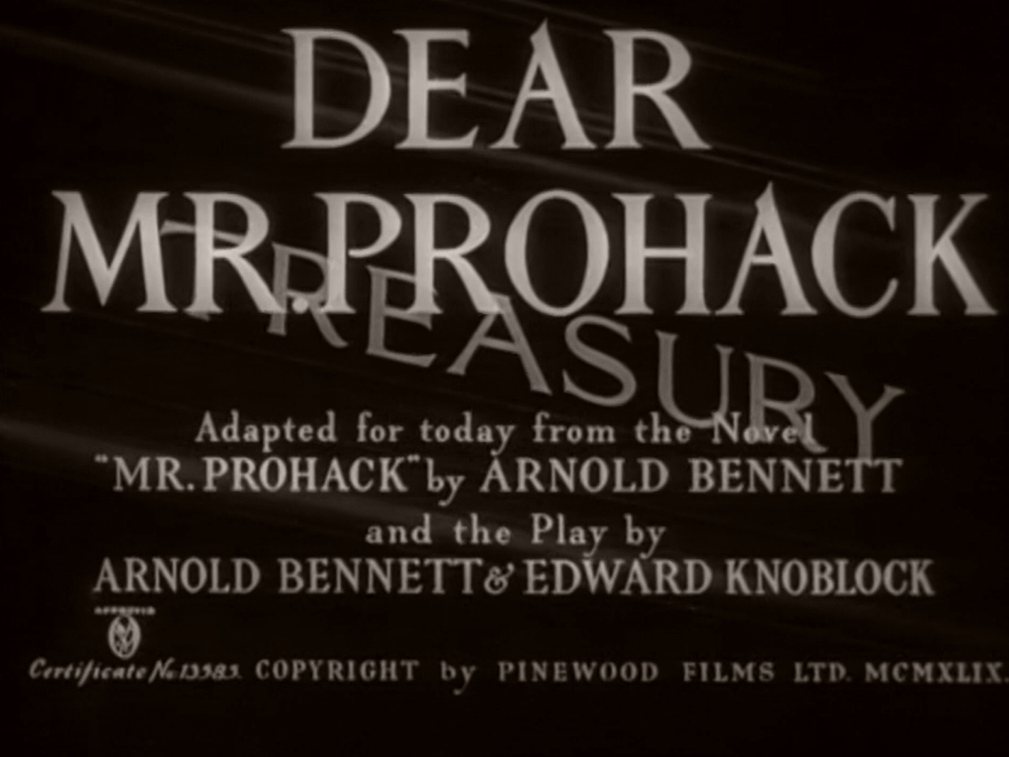 Main title from Dear Mr Prohack (1949) (4)
