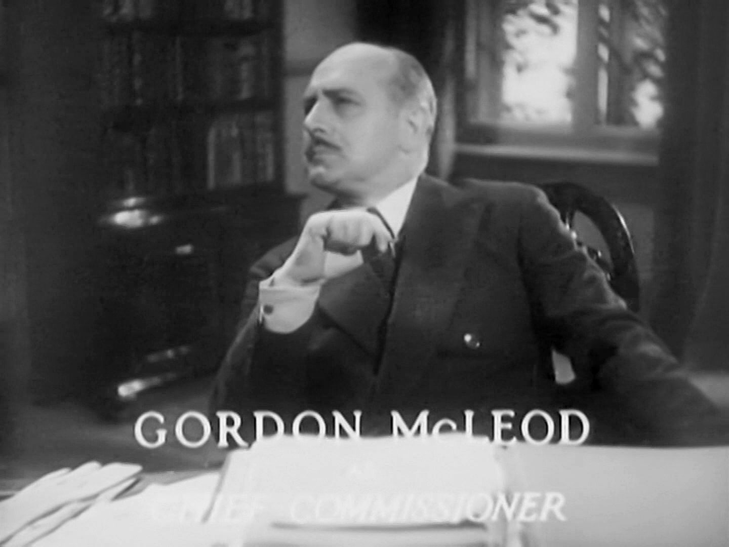 Main title from Death at Broadcasting House (1934) (13). Gordon McLeod as Chief Commissioner