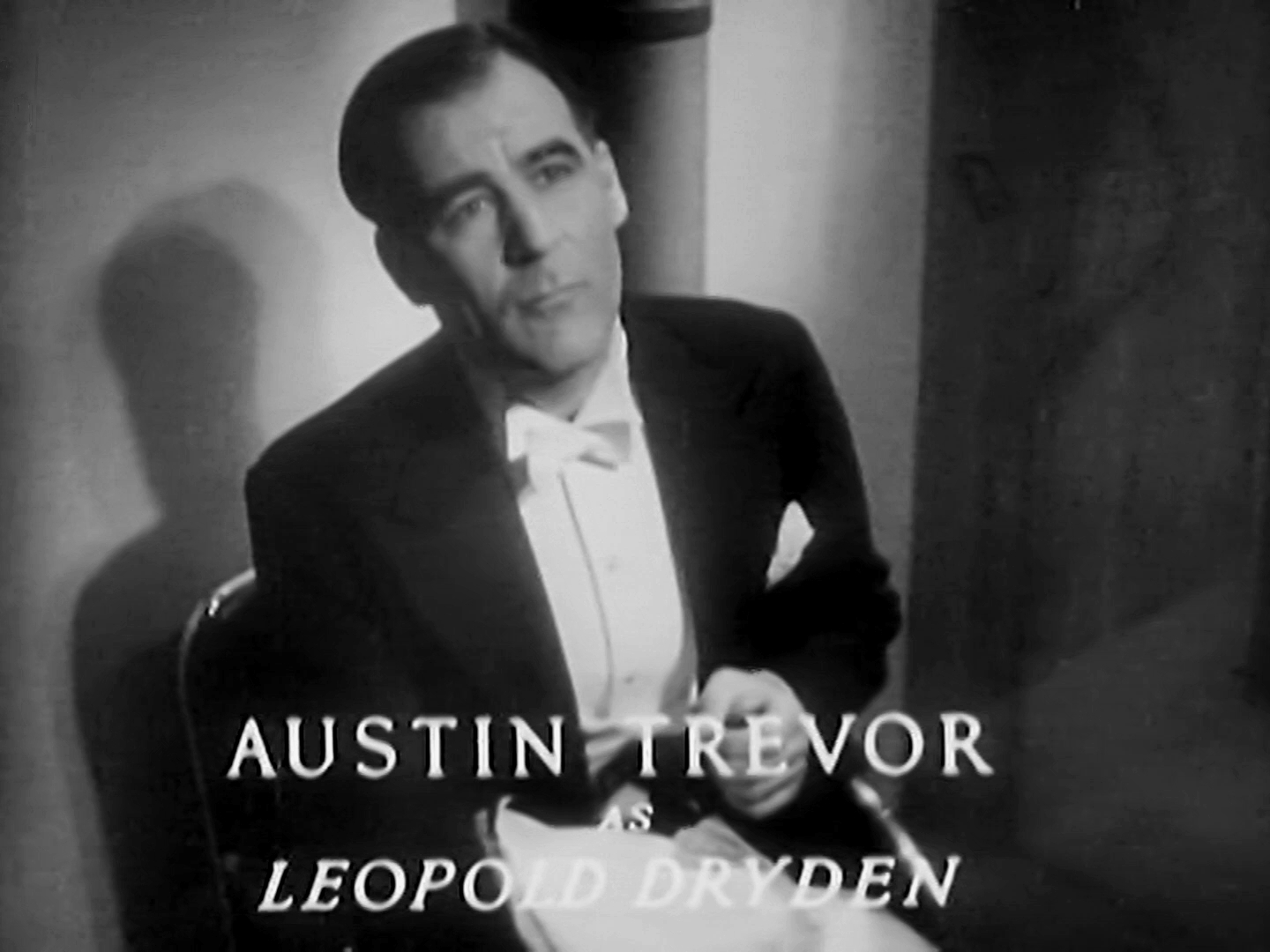 Main title from Death at Broadcasting House (1934) (5). Austin Trevor as Leopold Dryden