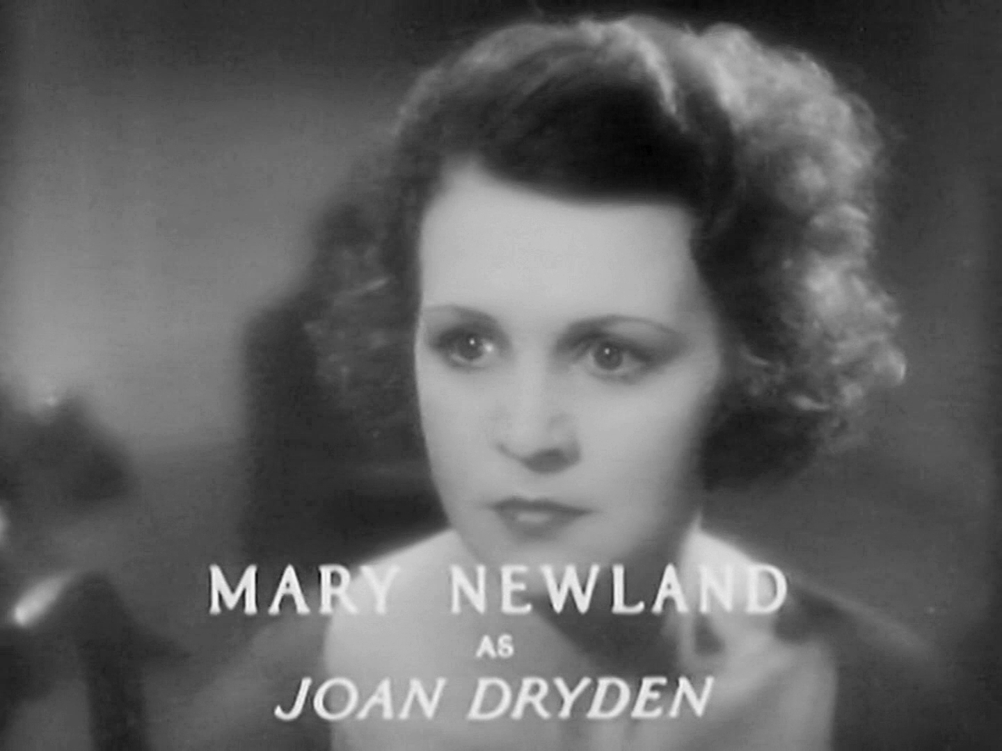 Main title from Death at Broadcasting House (1934) (6). Lilian Oldland (as Mary Newland) as Joan Dryden