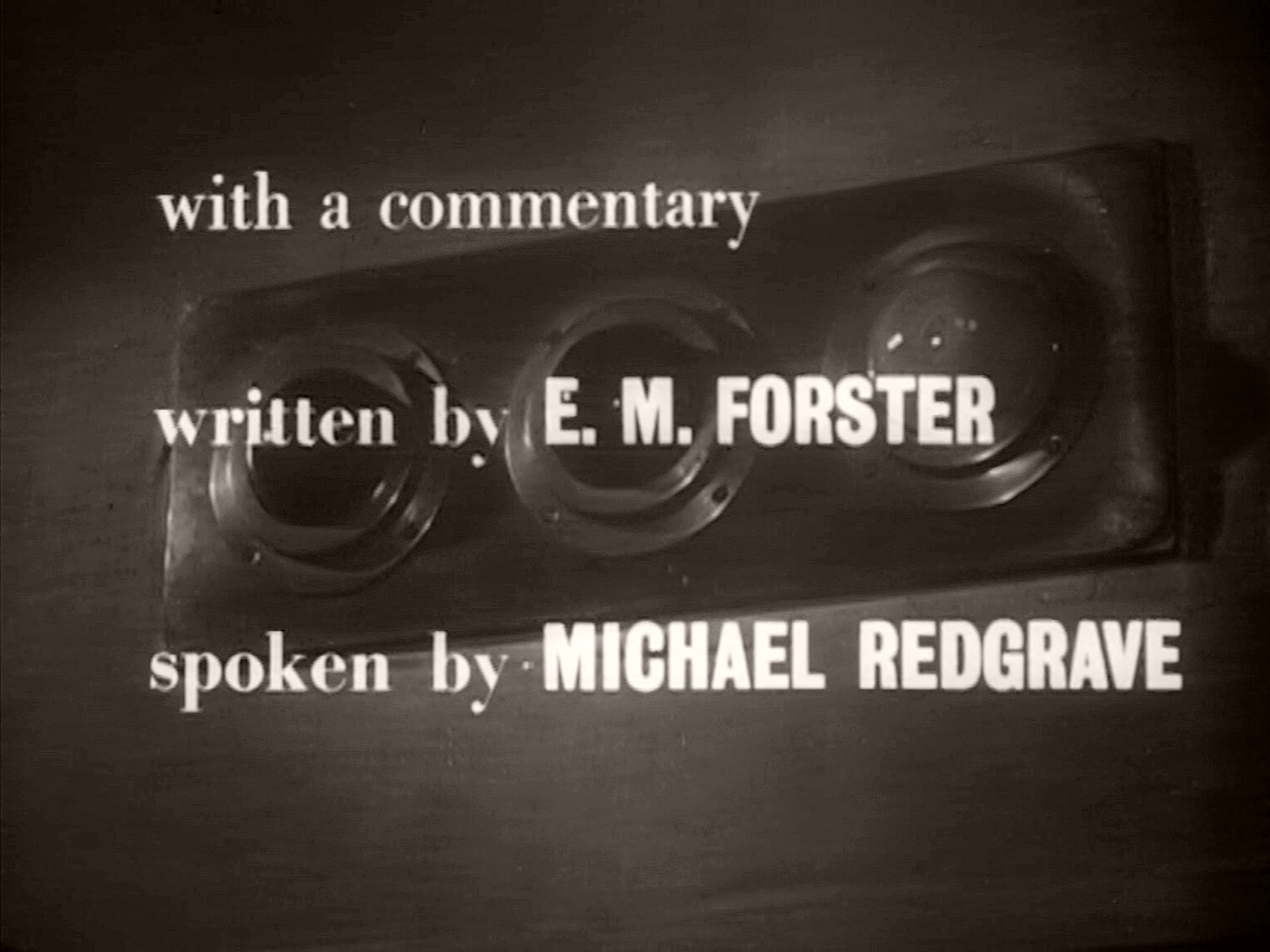 Main title from A Diary for Timothy (1945) (2). With a commentary by E M Forster spoken by Michael Redgrave