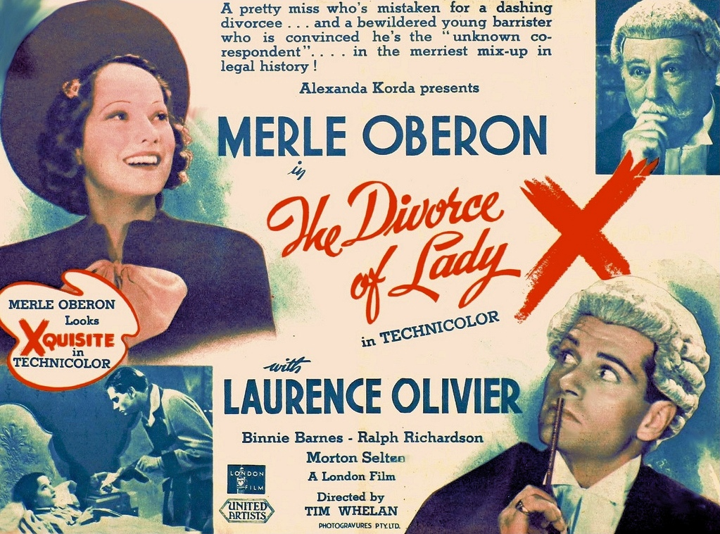 The Divorce of Lady X (1938): Merle Oberon, Laurence ...