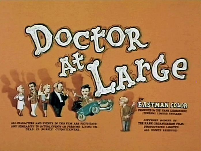 Main title from Doctor at Large (1957) (4).  In Eastman Color