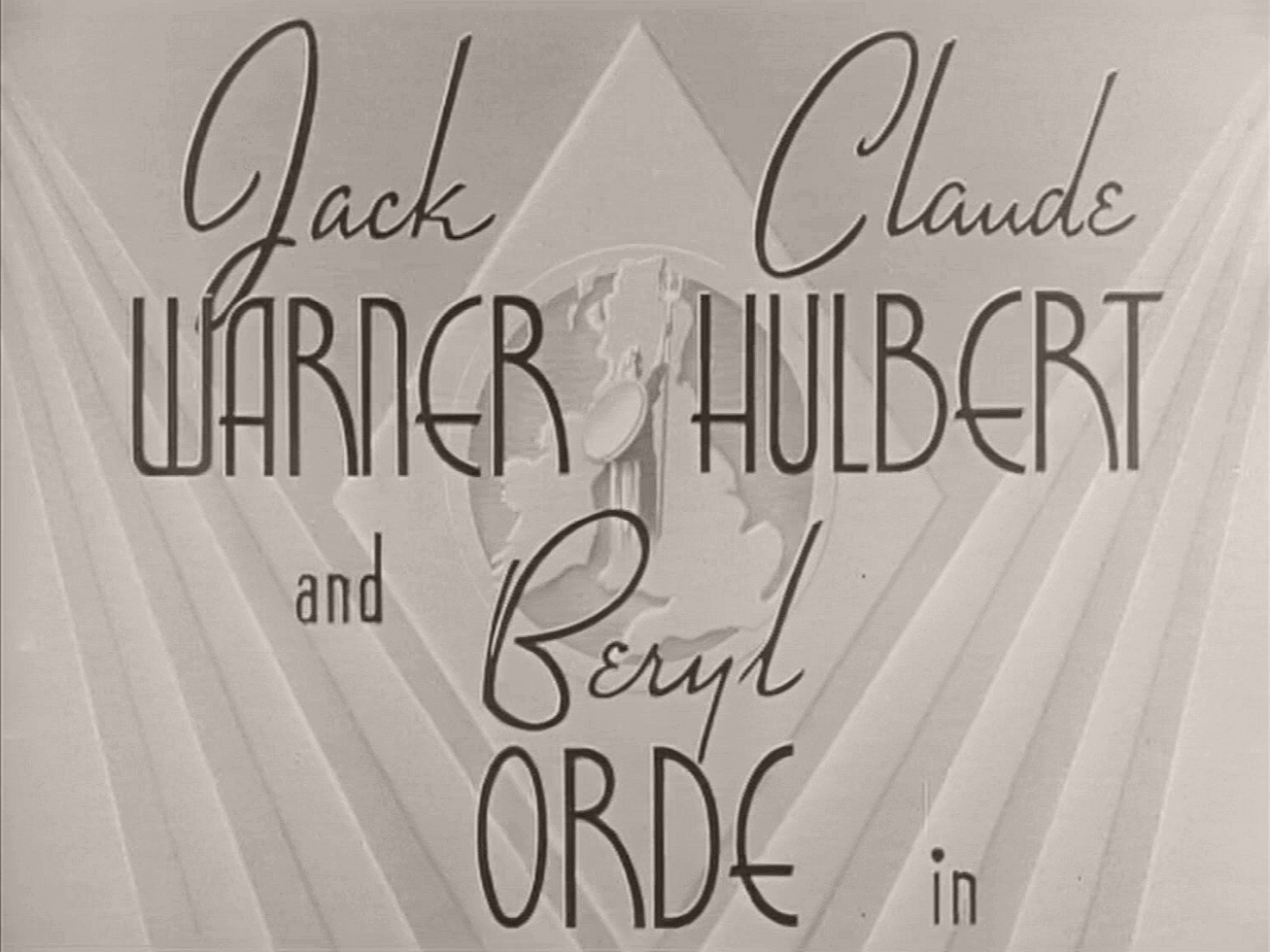 Main title from The Dummy Talks (1943) (2). Jack Warner, Claude Hulbert and Beryl Orde in