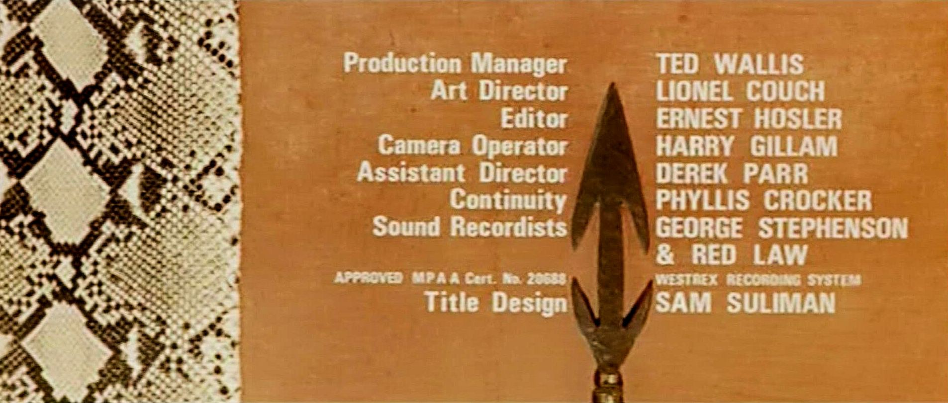 Main title from East of Sudan (1964) (7)