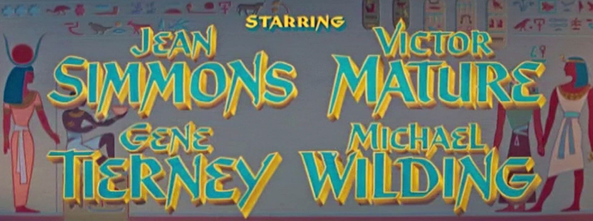 Main title from The Egyptian (1954) (4). Starring Jean Simmons, Victor Mature, Gene Tierney, Michael Wilding