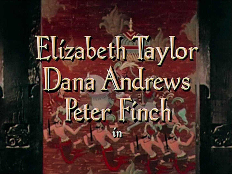 Main title from Elephant Walk (1953) (2). Elizabeth Taylor, Dana Andrews, Peter Finch in