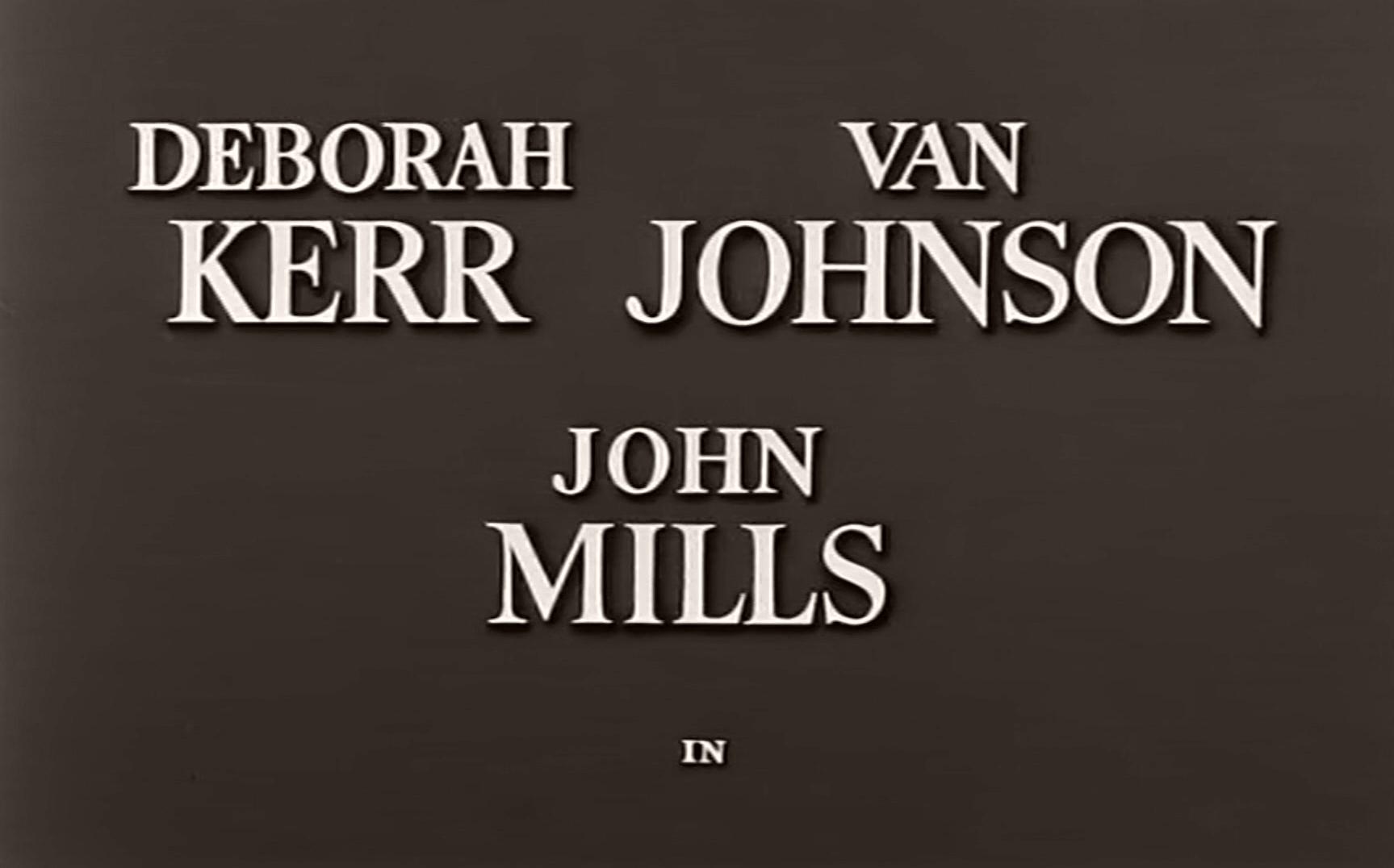 Main title from The End of the Affair (1955) (2). Deborah Kerr Van Johnson, John Mills in